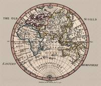 Old World Eastern Hemisphere map 1798