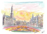 Grand Place Brussels Belgium with Flower Carpet
