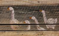 Barn Art of Four Geese