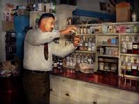Pharmacist  - An old fashioned pharmacy 1939
