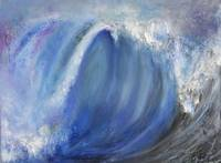 Spiraling Blue Ocean Wave Seascape