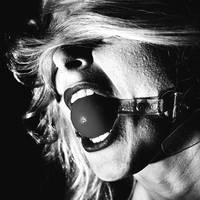 Mouth Ball Gag in Black and white #1214