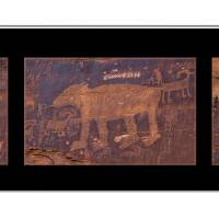 Petroglyph Triptych 1 Art Prints & Posters by Barbara Magnuson & Larry Kimball