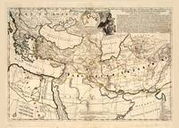 Middle East, Balkan Peninsula Map (1712)
