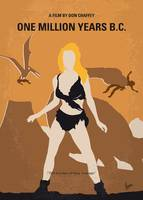 No1189 My One Million Years BC minimal movie poste