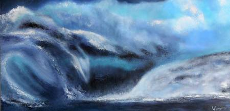 Stormy Chaotic  Ocean Wave