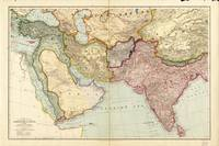 Map of the Middle East and South East Asia (1912)