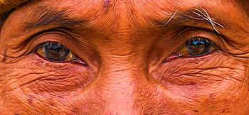 The eyes of an old man