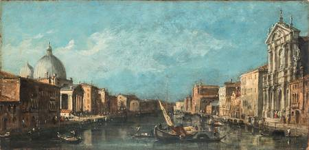 Follower of Francesco Guardi View of the Grand Can