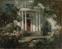 Front Porch in Dappled Sunlight by Abbott Fuller G