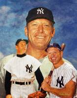 NY Yankees z Mickey Mantle ART 2520 ORIGINAL AIP A