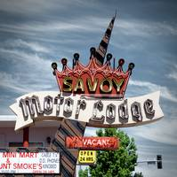 Neon Sign Motel Savoy Motorlodge
