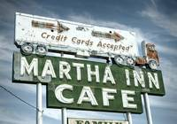 Martha Inn Cafe Neon Sign