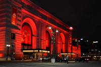 Union Station Lit up in Red 633_1