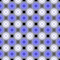 Black, White and Blue Pattern #1