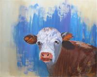 Original Fine Art Animal Cow Painting