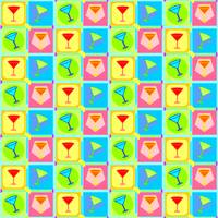 Retro Martini Pattern | Pop Art