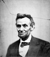 Vintage Abraham Lincoln Portrait - Cracked
