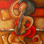 """""""A woman and her violin"""" by martagiraldo"""