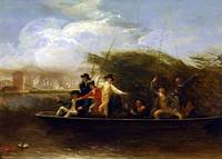 Benjamin West Gentlemen Fishing