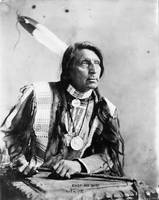Vintage Chief Red Shirt Native American Photograph