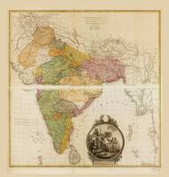 Map of Hindoostan (India) 1782
