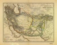 Iran, Afghanistan & Pakistan Map (1846)