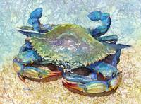 Blue Crab-pastel colors