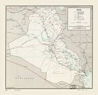 Map of Iraq (1967)