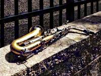 Saxophone on Wall