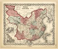 Colton's Map of China (1863)
