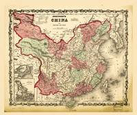 Johnson's Map of China (1862)