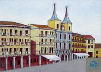 Postcard from Plaza Mayor, Segovia, Spain