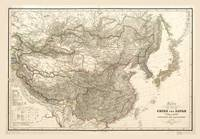 Map of China and Japan (1843)