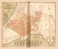Map of Mumbai (Bombay), India (1855)