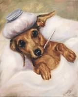 Under the Weather Dachshund Dog by SM Violano
