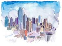 Dallas_Texas_USA_Skyline_Impressionistic_Watercolo