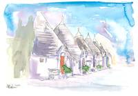 The Trulli Buildings of Alberobello Bari Italy