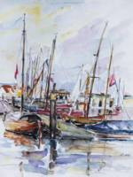 Harbour Of Traditional Sailboats, Flensburg, Germa