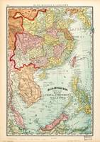 Map of China, Indochina & Malaysia (1897)