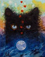 Black Cat in Moonlight