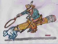 Calf Roping,No.2 Pencil