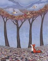 fox and chickadees