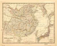 Map of China and Japan (1881)
