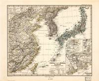 Map of China, Korea and Japan (1873)