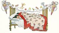 Christmas Illustration Children in Bed