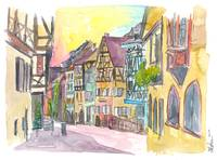 Pure Romantic in historical Riquewihr France Old T
