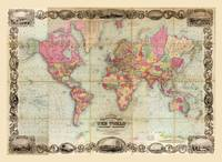 Colton's World Map (1854)