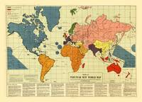 Post War World Map (1942)