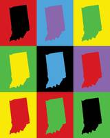 Indiana State Outline Pop Art
